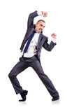 Dancing businessman Stock Photos