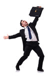 Dancing businessman isolated Stock Image