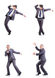 The dancing businessman Royalty Free Stock Photo