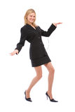 Dancing businesswoman stock photos