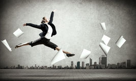 Dancing businesswoman Royalty Free Stock Photography