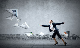 Dancing businesswoman Royalty Free Stock Images