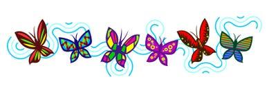 Dancing butterflies Stock Image