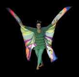 Dancing butterfly woman Royalty Free Stock Photo