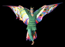 Dancing butterfly woman Stock Photography