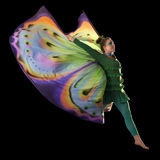 Dancing butterfly woman Stock Image