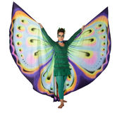 Dancing butterfly woman Stock Photos
