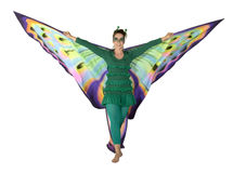 Dancing butterfly woman Royalty Free Stock Images