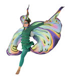 Dancing butterfly woman Royalty Free Stock Photography