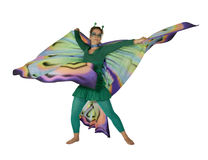 Dancing butterfly woman Royalty Free Stock Photos