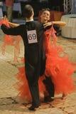 Dancing: Calin Rusnac/ Andreea Maria Hogea Dancers Royalty Free Stock Photography