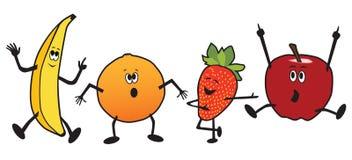 Dancing Cartoon Fruit stock illustration