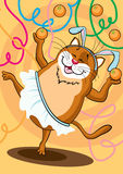 The dancing cat Stock Photo