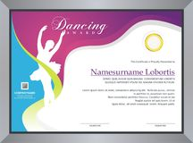 Dancing Certificate royalty free stock photo