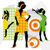 Dancing charming girls Royalty Free Stock Photo