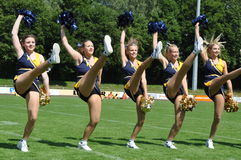 Dancing Cheerleader Royalty Free Stock Photography