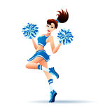 Dancing Cheerleader Girl Royalty Free Stock Photos