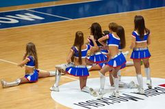 Dancing cheerleaders Royalty Free Stock Images