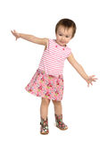 Dancing child. On white background royalty free stock photos