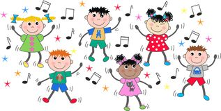 Dancing children Stock Images