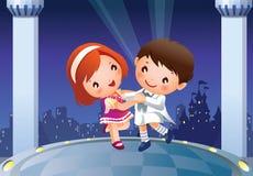 Dancing children Stock Images