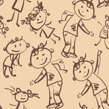 Dancing children  seamless pattern Royalty Free Stock Image