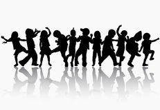 Free Dancing Children Silhouettes Stock Photo - 42906990