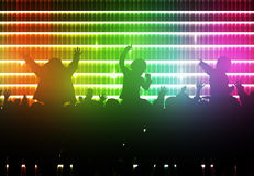 Dancing children silhouettes Stock Photo