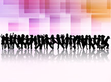 Dancing children silhouettes Stock Images