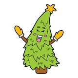 Dancing christmas tree Stock Photography