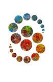 Dancing circles in palette of artist - 2 royalty free illustration