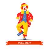 Dancing circus clown Stock Images