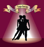 Dancing club poster. Couple dancing. Dance background Stock Photos