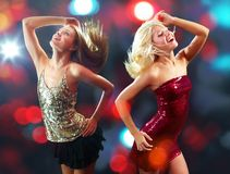 Dancing clubbers Royalty Free Stock Photography