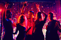 Dancing clubbers Royalty Free Stock Images