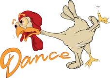 Dancing cock Royalty Free Stock Photos