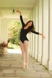 Dancing in the corridor Royalty Free Stock Photo