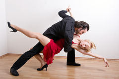A dancing couple Royalty Free Stock Image
