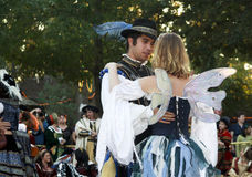 Dancing Couple. MISSION, TX – OCTOBER 2009: Couple dancing at the Texas Renaissance Festival, known as the largest in the state and taken on October 17, 2009 Royalty Free Stock Images