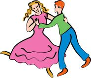Dancing couple stock illustration