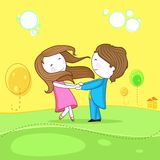 Dancing Couple. Illustration of dancing couple celebrating life Royalty Free Stock Images