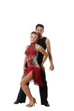 Dancing couple. The young man and the girl dancing the Latin American dance Stock Photo