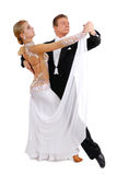 Dancing couple. Isolated white background Royalty Free Stock Photos