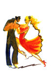 Dancing couple in abstract style Royalty Free Stock Photos