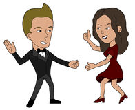 Dancing couple cartoon Royalty Free Stock Image