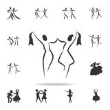 Dancing couple icon. Set of people in dance  element icons. Premium quality graphic design. Signs and symbols collection icon for. Websites, web design, mobile Royalty Free Stock Photos