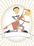 Dancing couple inside copyspace friendly oval ad Royalty Free Stock Photography