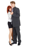Dancing couple isolated on white background. Dancing couple of young people isolated on a white background Stock Photos