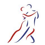 Dancing couple logo. Royalty Free Stock Photos