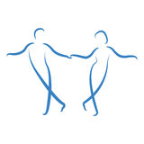 Dancing couple logo. Stock Photo